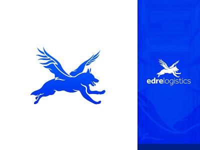 Edre Logistics icon brand identity identity design branding vector san diego tijuana phoenix german shepherd borders import export logistics brand logo design logotype logo