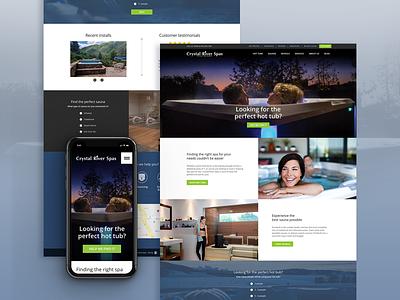 Responsive Homepage Design webdesign landing page spas responsive design homepage