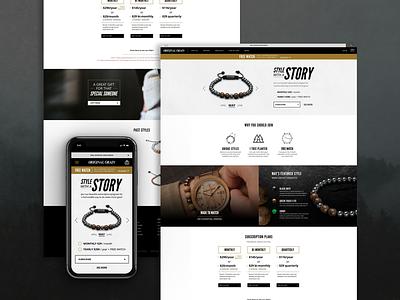 Original Grain - Landing Page product page responsive web design watch bracelet website ui design landing page