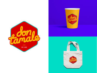 Logo Don Tamale design vector brand identity branding logotype logo mexican food mexico typography food brand identity lettering logo design