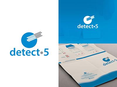 Detect5 Logo and Brochure Design graphic design branding brand logotype vector packaging identity test drugs brochure logo design logo