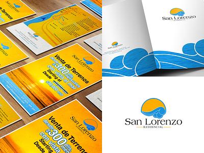 San Lorenzo Brand Identity sale residential folder flyer corporate identity logo brand identity design