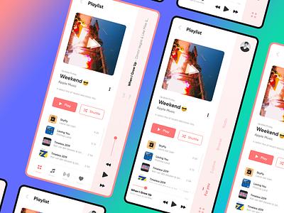 Experiments -  Apple Music interactive mobile user concept experimental creative apple colors flat design ux ui