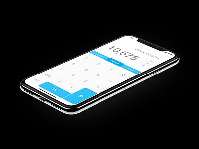 Calculadora UI-UX blue free slim flat ios black ux ui calculadora