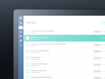 Dashboard Task Manager manager screen black apple mackbook web design ui ux