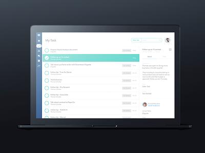 Dashboard Task Manager Full View bogota designer manager screen black apple mackbook web design ui ux
