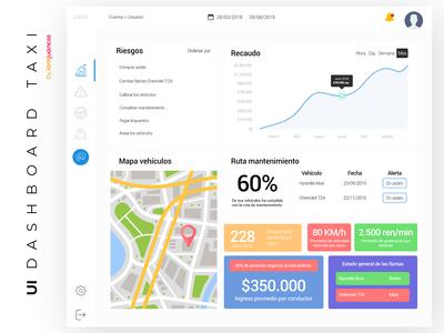 Dashboard TAXI web app UI/UX