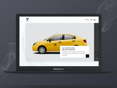Taximo Web Concept simple city transport white web flat ui design ux