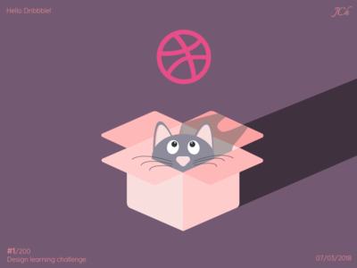 Hello Dribbble! Challenge to learn design #1/100