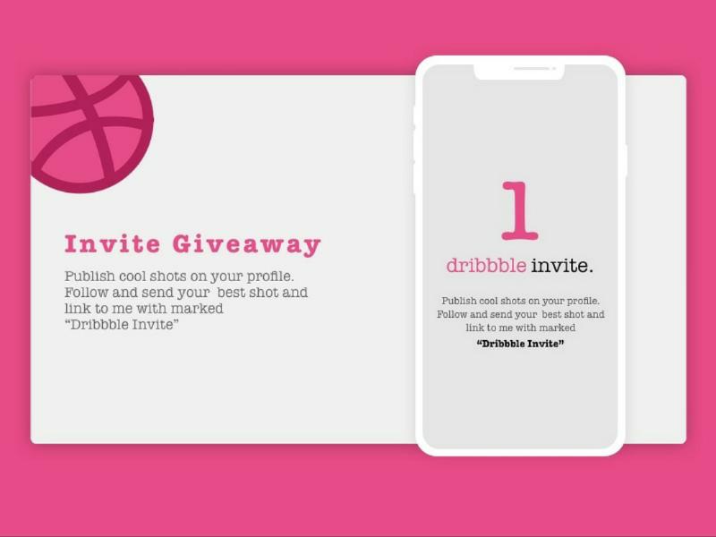 Invite_giveaway dribbblers design designers invite dribbble