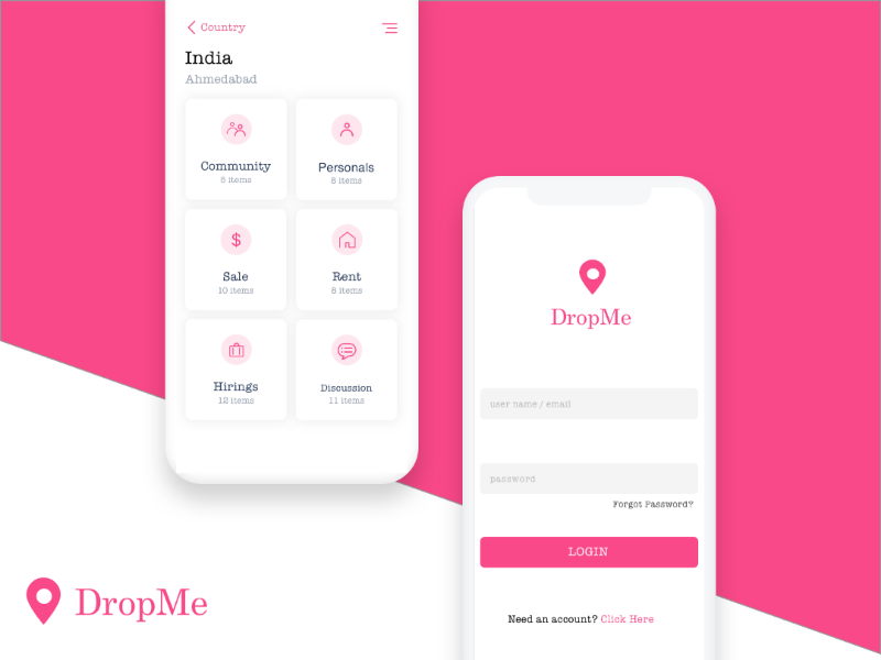 Location app ios app design dribbble dribbblers dribbble best shot like drop ios ux ui app location