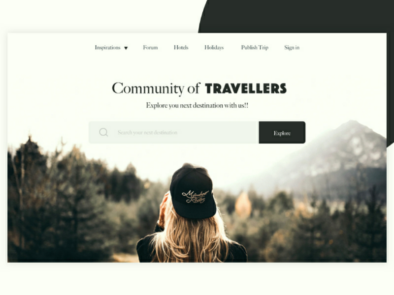 Travel Landing page inspired location travel website web ux inspiration ui landing page landing dribbble design tags
