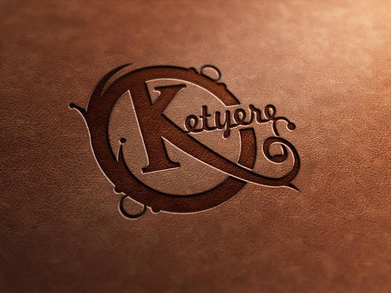 Ketyere Logo - Creative Hobby Shop logo branding mockup brown leather press design identity