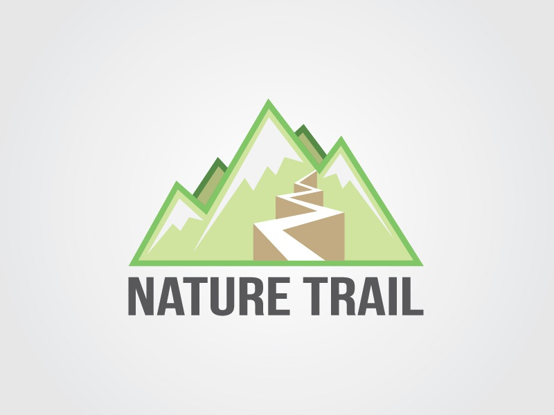 Nature Trail Logo logo brand identity flat green mountains nature