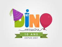 Dinoversaire Logo