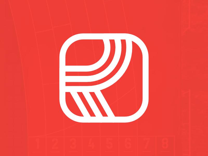 Symbol / Letter Mark for Run.jp vector branding logo alphabet branding design belfast identity affinity designer flat branding agency lettermark orange running athletes trainers clean clean  creative