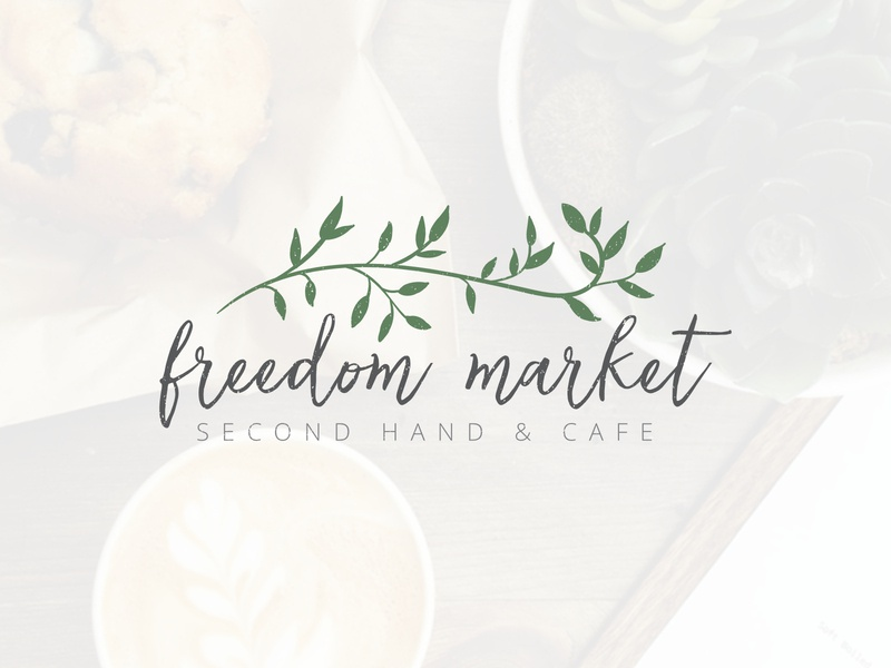 Logo for Freedom Market floral design logo design design vector illustration flat identity typography store texture olive tree leaves logotype logo cafe logo cafe decor classy business branding brand