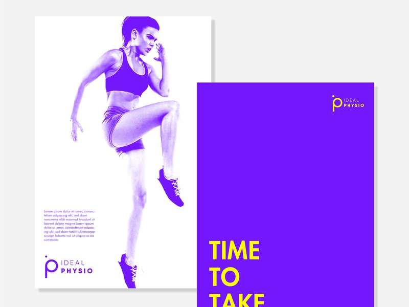 Ideal Physio Branding sport sports branding physiotherapy photography typography physio logo idenity contrast colours branding brand design