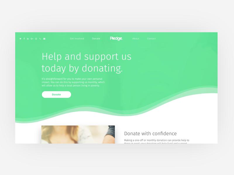 Pledge UI Designs web design website guidelines green typography charity ux ui minimal logo idenity design colours branding brand