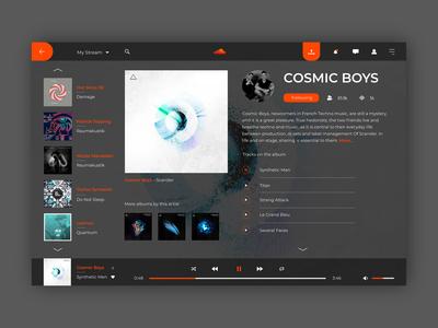 Soundcloud Music Concept