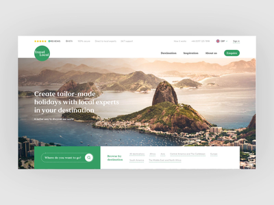 Travel Local Landing Page