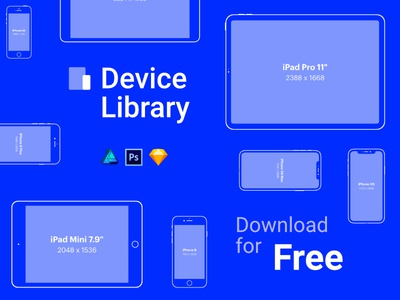Free iPhone & iPad vector mockups – Device Library