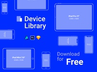 Free iPhone & iPad vector mockups – Device Library