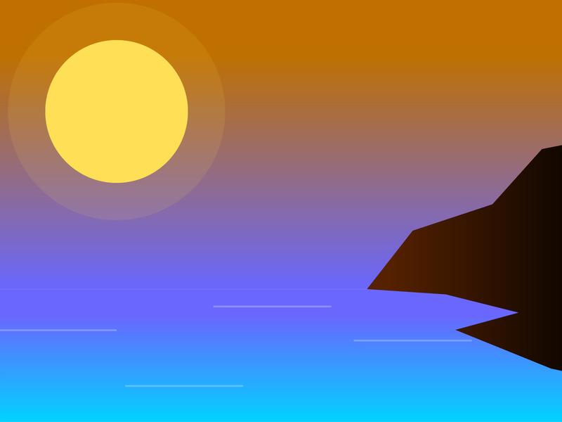 Cliff concept illustrator cc art illustration ocean draw ui