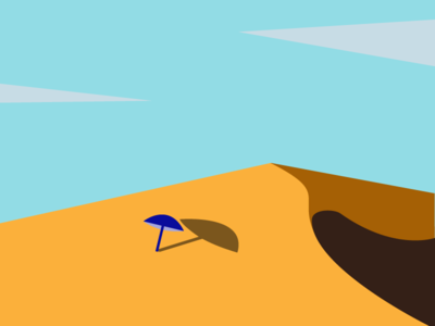 It's hot here  (✖╭╮✖) hot desert umbrella vector draw art illustration art uidesign