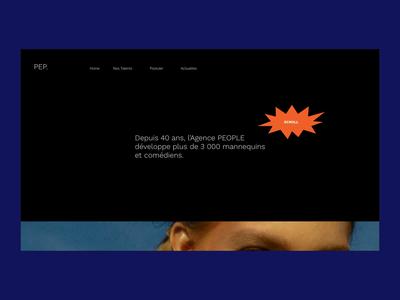 PEP Agency | Website branding transition animation web after effect uidesign design concept ui art