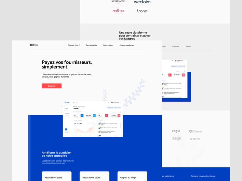 Libeo Website ux concept onepage branding vector logo web uidesign ui design