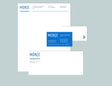 Full set of collateral for Monje's brand