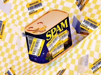 Meal deal vintage spam illustration c4d gold design conceptual artwork cinema4d 3d