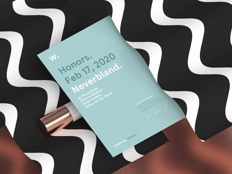 Awwwards HM - Neverbland.com studio portfolio awwwards website illustration design conceptual artwork cinema4d 3d