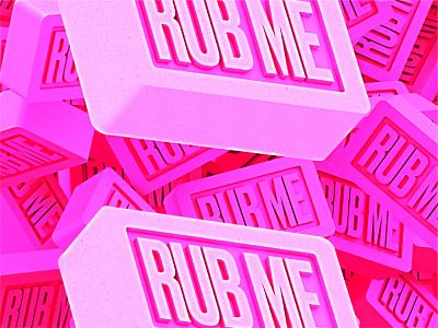 Rub me pop art print render c4d pink virus covid-19 coronavirus soap octane artwork conceptual design 3d cinema4d