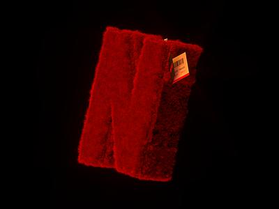 Cuddly toy. red toy cuddly hair soft chill netflix octane design conceptual artwork cinema4d 3d