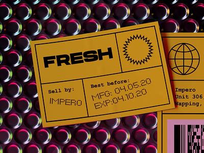 Fresh from Impero dark stickers motion c4d iridescent silver design octane cinema4d 3d artwork