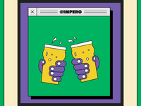 Always disinfect each other's rims after clinking glasses. design sanitizer saturday super beer computers covid-19 coronavirus covid motion agency lockdown computer 90s illustration artwork