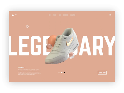 Air Max 1 product page journey ux ui product shopping nike air parallax nike interaction experimental design