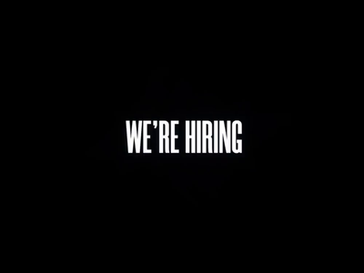 We're hiring! studio jobs digital studio london apply job application product designer developer hiring job conceptual 3d