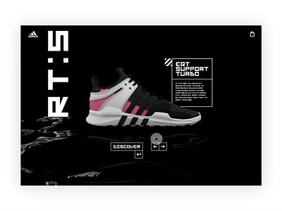 Adidas x Parley concept. app sneaker shopping uxdesign uidesign adidas ux ui cinema4d artwork design 3d conceptual