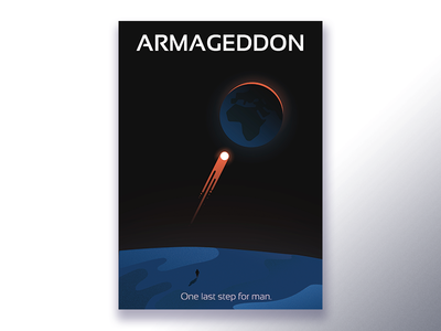 Minimal movie posters #2 - Armageddon