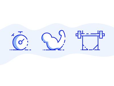 Gym icons 2