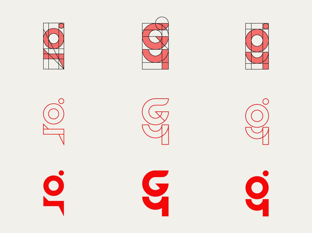 G4 Innovations - concepts icon logolearn logogrid grid logos logo minimalist logo minimal logo monogram logo monograms logogram monogram innovation mapping videography