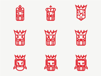 The moody kings royalty royal monoline logodesign logo king icon set icons icon crown