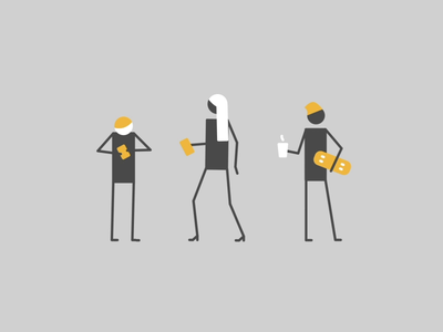 Teenagers vector animation simple 2d
