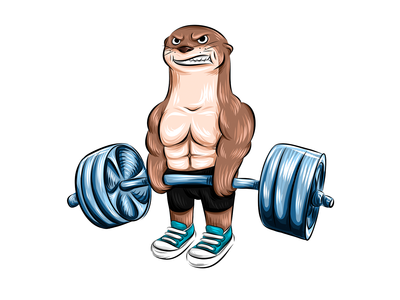 Otter in the gym