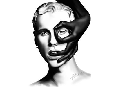 Black and White Digital Portrait