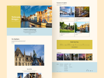 Visit Bruges Homepage Design bruges homepage design re design website ux ui