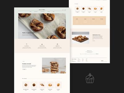 Honey & I Website Design product list footer landing e commerce ux ui bakery website minimal